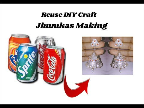 Reuse craft DIY | silver jhumkas without base
