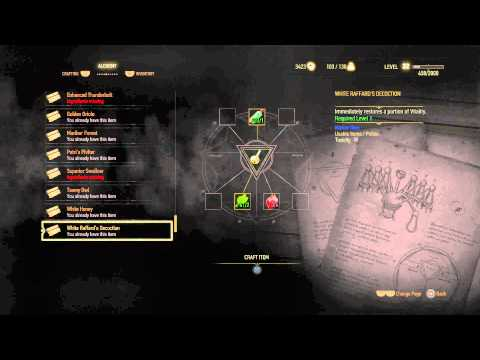 The Witcher 3 - Alchemy: Greater Red Mutagen (Attack Power +40%) Enhanced Cat Potion Crafted PS4