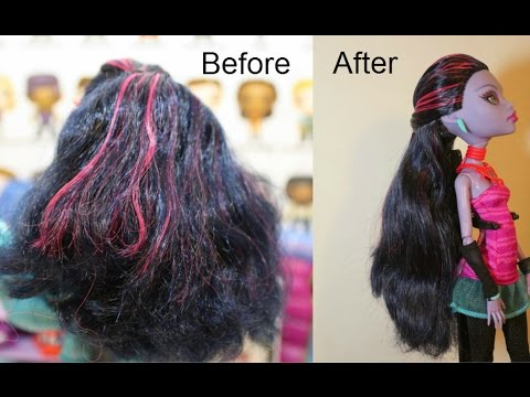 How to Wash Monster High Doll's Hair ~ How I Did Jane Boolittles Makeover