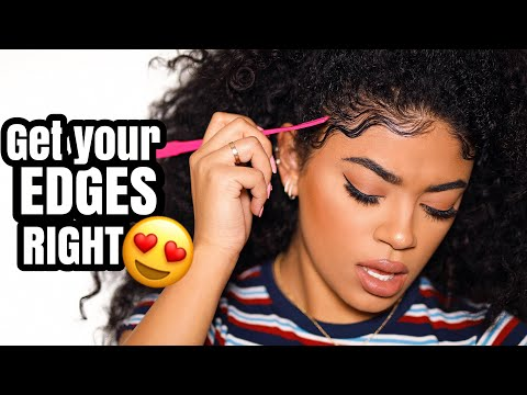 GET YOUR EDGES RIGHT! Wavy Baby Hair Tutorial | jasmeannnn