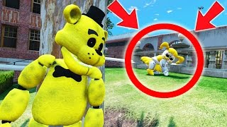 CAN GOLDEN FREDDY FIND OUT WHAT GOLDEN BABY IS HIDING? (GTA 5 Mods For Kids FNAF Funny Moments)
