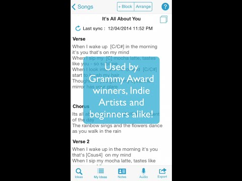Songwriter's Pad - The Songwriting App for iPhone
