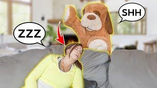 GIANT TEDDY BEAR IS ALIVE!! *PRANK On GRANDMA*   The Royalty Family
