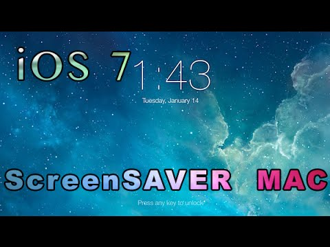 How to Install iOS 7 Inspired Screensaver to your Mac