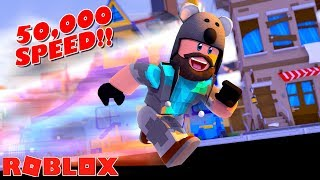 ROBLOX SPRINTING SIMULATOR - 50,000 SPEED!!