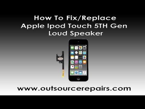 How To Fix Replace Broken Apple Ipod Touch 5th Gen Loud Speaker