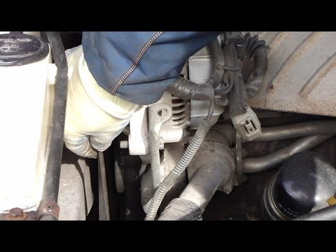 How to check drive belt tightness and adjust it. Toyota Camry. Years 1991 to 2001
