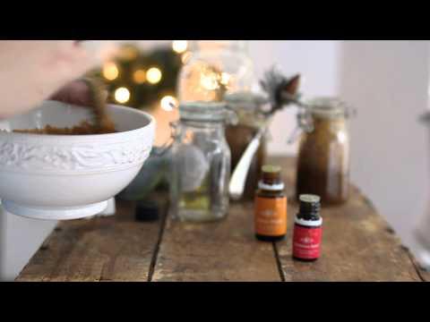 How to make a Sugar Scrub using Young Living Essential Oils