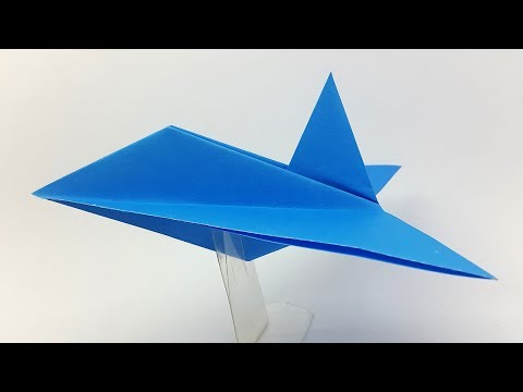 Origami Stealth Fighter making instructions - Paper Stealth Fighter Jet Airplane