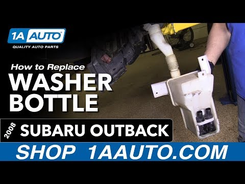 How to Replace Install Washer Bottle 08 Subaru Outback