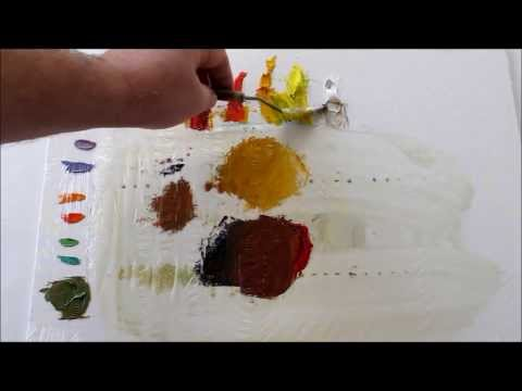 How to Mix Colors:Oil Painting, How to Mix Browns