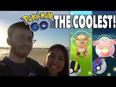 COOLEST PLACE TO PLAY POKEMON! Catching Arcanine, Chansey & More! Pokemon GO Venice Beach!