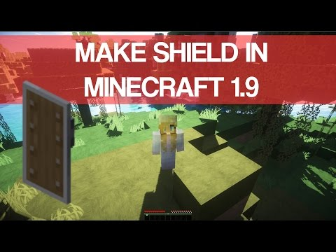 How To Make Shield In Minecraft 1.9 - 2016