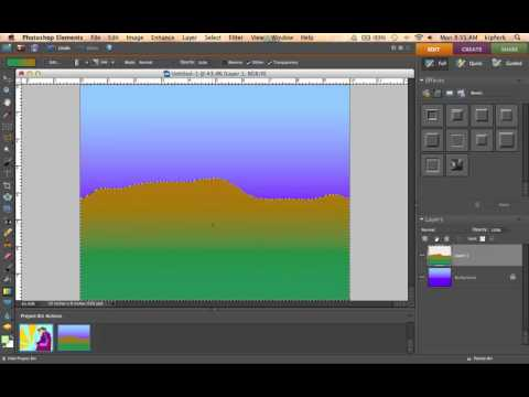Simple Landscape Painting in Photoshop