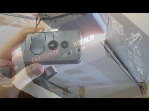 Program Garage Door Opener Car Remote Craftsman HOW TO DIY 1/4 1/3 1/2 2/3 3/4 HP