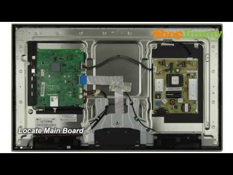 Samsung TV Repair Tutorial - Replacing Main Board in Samsung UN32D4000NDXZA TV - How to Fix LED TVs
