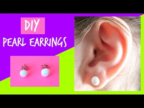 DIY Faux Pearl Earrings | How to make Fake Pearl Earrings | Ali Coultas