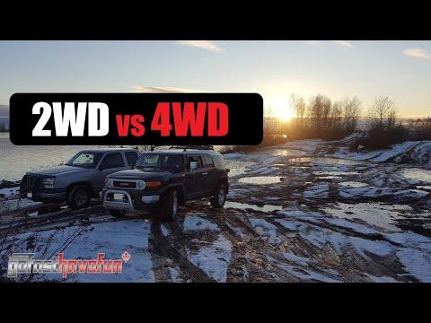 2WD vs 4WD (Two Wheel Drive Eaton G80 Locker vs 4 Wheel Drive Open Diff)
