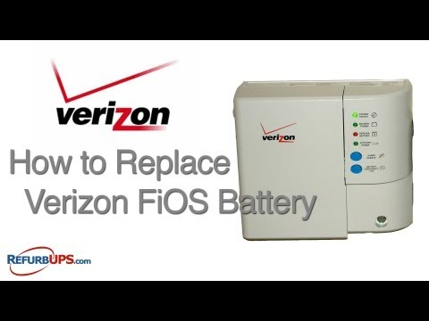How to Replace Verizon FiOS Battery