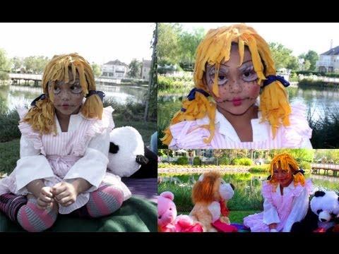 DIY Rag doll Wig, Makeup & Costume!