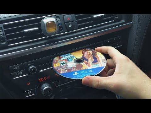 What Happens When You Put a PS4 GAME DISC in a CAR CD PLAYER?