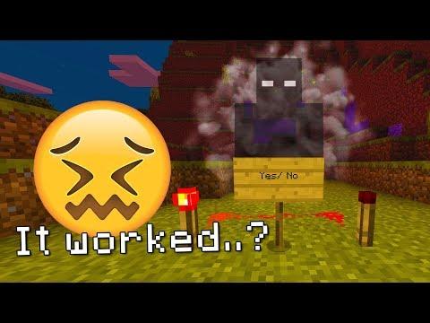 Trying to talk to the dark spirits of Minecraft! (Boogeyman's Spirit)