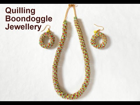 How to make Quilling Round Boondoggle Jewellery Set