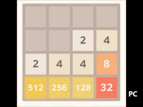 Beating 2048 game: 8192 tile part 1 of 4 - 2048 tile