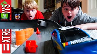 Adventure Force Nascar Crash Racer Mayem! Sneak Attack Squad Race Car Smashing Fun!