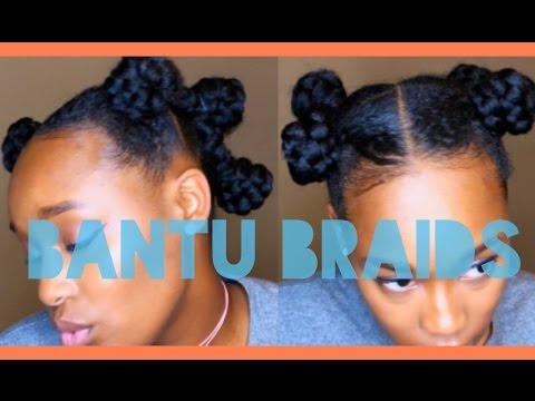 BANTU BRAIDS ON NATURAL HAIR | TUTORIAL