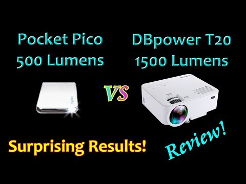REVIEW: LED Projector Showdown!  DBPower T20  VS  Pocket Pico Android