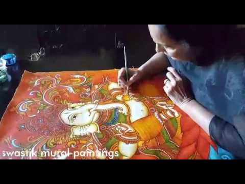 Kerala mural painting tutorial