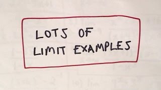 ❖ Lots of Limit Examples, Part 1 ❖