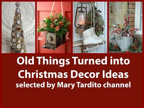 Old Things Turned into Christmas Decor Ideas