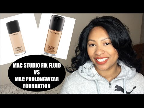 MAC Studio Fix Fluid vs  MAC Pro Longwear Foundation | Battle Between MAC's Best Sellers