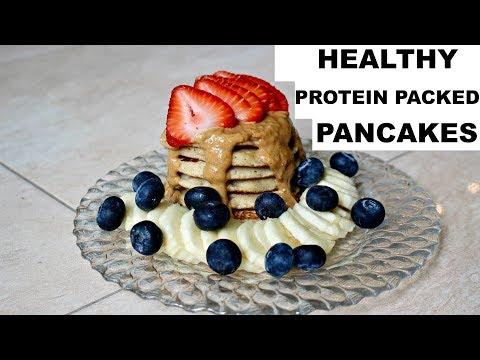 Protein packed HEALTHY PANCAKES (Kodiak cakes)