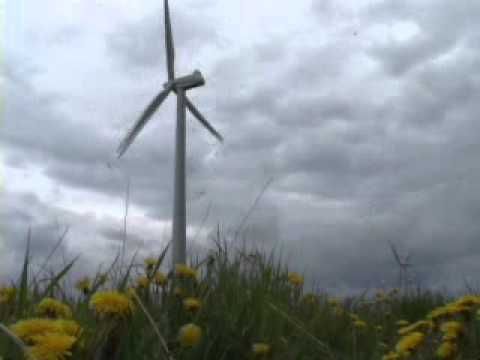WINDMILL POWER  dd-TV.com  wind producing green power electricity from nature