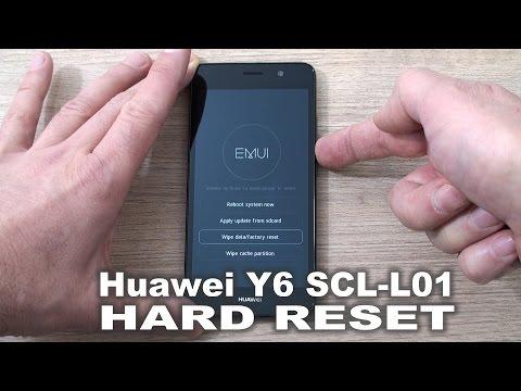 Huawei SCL L01 Y6  hard reset