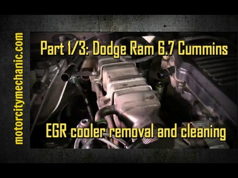Part 1/3: Dodge Ram Cummins 6.7 diesel EGR cooler removal and cleaning