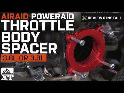 Jeep Wrangler Airaid PowerAid Throttle Body Spacer (2007-2017 JK 3.8L, 3.6L) Review & Install