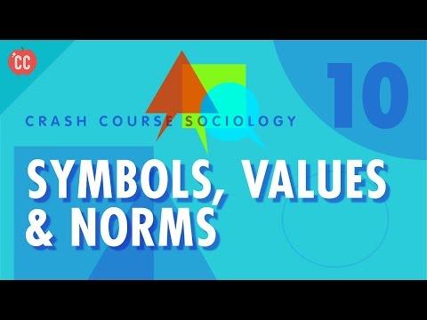 Symbols, Values & Norms: Crash Course Sociology #10