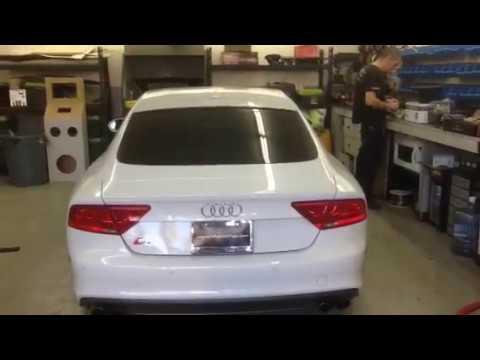 Audi S7 2015 custom sub box Al&eds Autosound Ontario