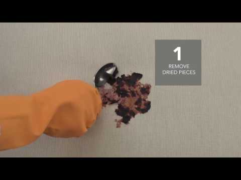 How To Clean Dried Blueberry Topping Stains