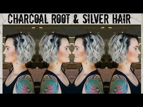 Charcoal Roots & Silver Hair Color Tutorial
