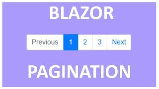 8 - Blazor - Pagination with ASP.NET Core, Entity Framework Core and Blazor