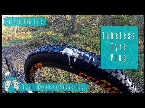 How to plug a tubeless tyre system - plug a bike tire