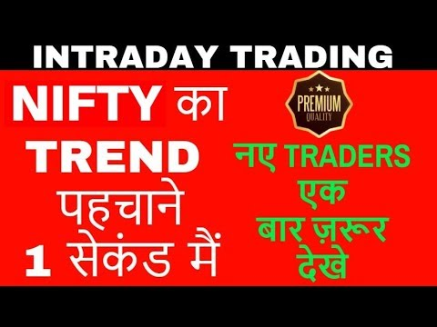 Nifty Intraday trend - पहचाने 1 सेकंड  मैं - stock market NSE/BSE  - Online stock trading - in Hindi