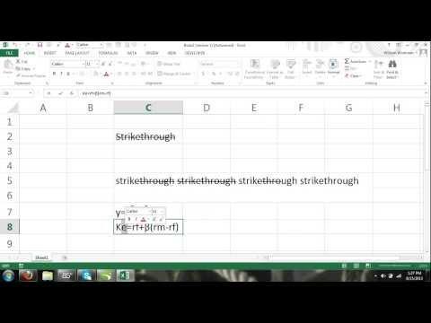 Excel For Noobs Part 42: Font Formats Strikethrough, Superscript & Subscript How To Excel 2016 2013