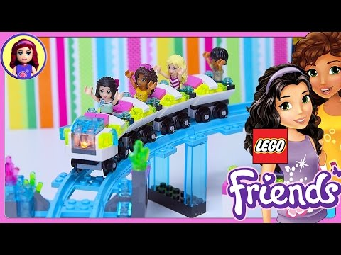 Lego Friends Amusement Park Roller Coaster Build Part 1 Review Silly Play - Kids Toys
