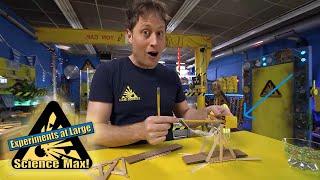 Science Max|BUILD IT YOURSELF|Mini Trebuchet!|EXPERIMENT